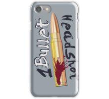 1 Bullet - Headshot print iPhone Case/Skin