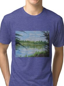 Summer By The River Tri-blend T-Shirt