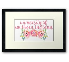 University of Southern Indiana Framed Print