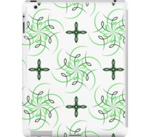 green four angle flowers and figures of wind iPad Case/Skin