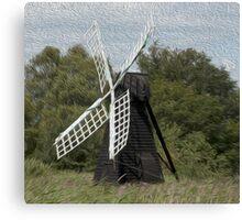 Black windmill Canvas Print