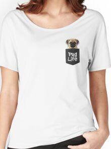 Pug Life Pocket Women's Relaxed Fit T-Shirt