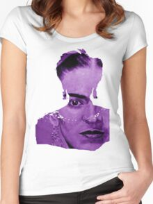 FRIDA - shirt version - purple Women's Fitted Scoop T-Shirt