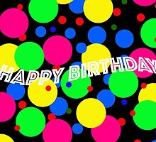 HAPPY BIRTHDAY CIRCLES CARD by Thomas Barker-Detwiler