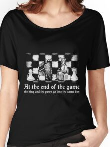 chess deep quote motivational inspirational black white illustration  Women's Relaxed Fit T-Shirt