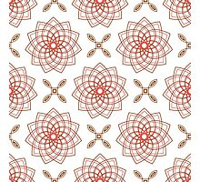 geometric weaving pink forms like flowers and four angle flowers Photographic Print