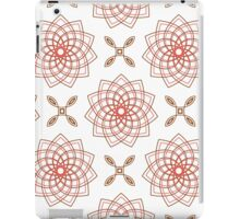 geometric weaving pink forms like flowers and four angle flowers iPad Case/Skin