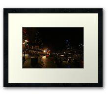 The Yarrah walk Melbourne  Framed Print