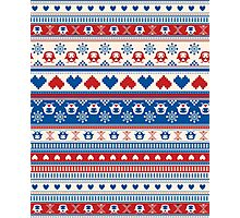 Cozy winter pattern Photographic Print