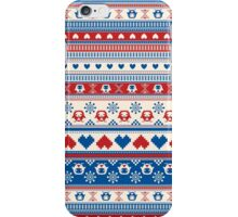 Cozy winter pattern iPhone Case/Skin