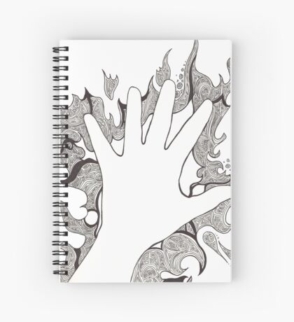 Hand of Chaotic Lines Spiral Notebook