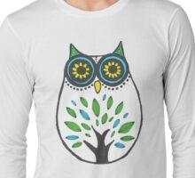 Sugar Skull Owl Long Sleeve T-Shirt
