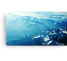 Birds View on the Alps (Velvia) Canvas Print