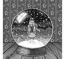 The Girl in the Snow Globe  Photographic Print