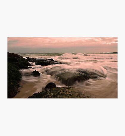 Sunset ethereal Sea at Sandbanks Photographic Print
