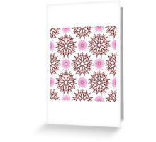 stars like flowers and weaving flowers with points Greeting Card