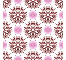 stars like flowers and weaving flowers with points Photographic Print
