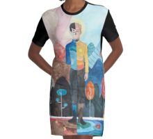 //Spirk Halves// Graphic T-Shirt Dress