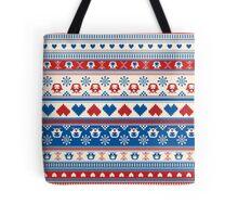 Cozy winter pattern Tote Bag