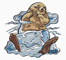 Otter Swim Kids Tee