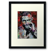 Conor McGregor, UFC, spray paint, street art style Framed Print