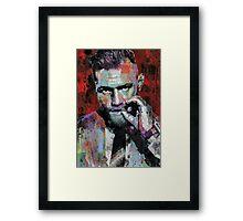 Conor McGregor, UFC, spray paint, street art style Framed Print