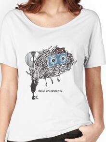 """MUSIC - """"PLUG YOURSELF IN"""" Women's Relaxed Fit T-Shirt"""