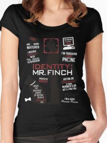 Person of Interest Harold Finch Women's Fitted Scoop T-Shirt