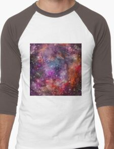 Galaxy - Under The Wing of The Small Megallenic Cloud - Watercolour Men's Baseball ¾ T-Shirt