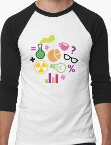 Crazy Neon Scientist Pattern Men's Baseball ¾ T-Shirt