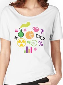 Crazy Neon Scientist Pattern Women's Relaxed Fit T-Shirt