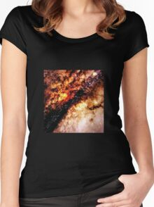 GALAXY - Nucleus of Galaxy Centaurus A Women's Fitted Scoop T-Shirt