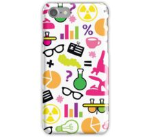 Crazy Neon Scientist Pattern iPhone Case/Skin