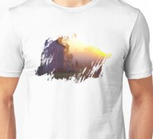 Dawn on the old barn Unisex T-Shirt