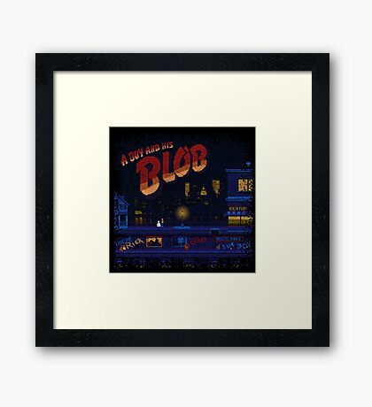 A Blob and His Boy Framed Print