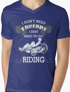 RIDING Mens V-Neck T-Shirt