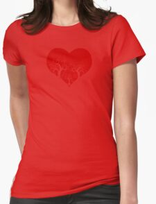 forest heart Womens Fitted T-Shirt