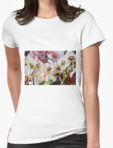 orchid bloom Womens Fitted T-Shirt