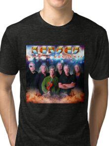 poster music tshirt black concert band kansas  Tri-blend T-Shirt