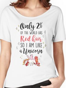 Red Head Unicorn Women's Relaxed Fit T-Shirt