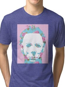 Halloween Floral Michael Myers Tri-blend T-Shirt