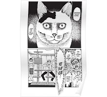 Cursed Face Cat Poster