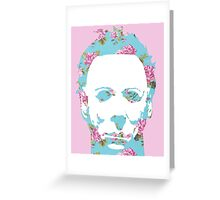 Halloween Floral Michael Myers Greeting Card