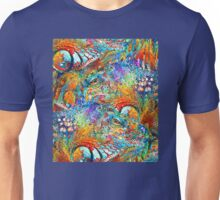 Colorful Iguana Art - Tropical Two - Sharon Cummings Unisex T-Shirt