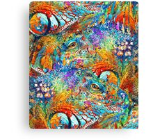 Colorful Iguana Art - Tropical Two - Sharon Cummings Canvas Print
