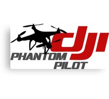 DJI Phantom Pilot UAV Drone white Canvas Print