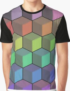 Colorful Cube Cascade! Graphic T-Shirt