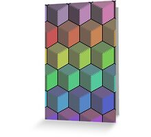 Colorful Cube Cascade! Greeting Card