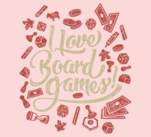 I Love Board Games Baby Tee