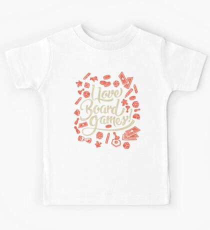 I Love Board Games Kids Tee